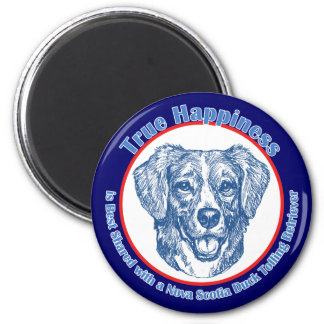 True Happiness Nova Scotia Duck Tolling Retriever 2 Inch Round Magnet