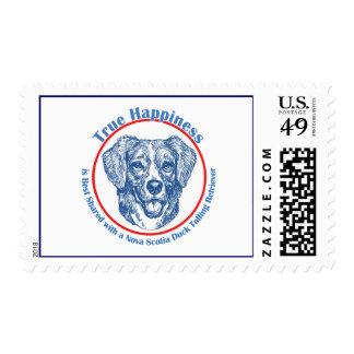 True Happiness Nova Scotia Duck Tolling Retriever Postage Stamp