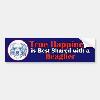 True Happiness with a Beaglier Bumper Sticker
