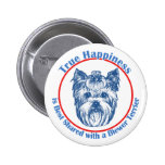 True Happiness with a Biewer Terrier Buttons