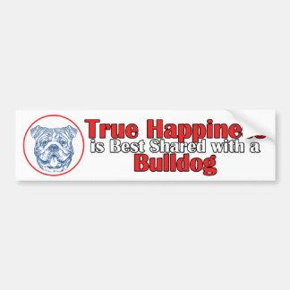 True Happiness with a Bulldog Bumper Sticker