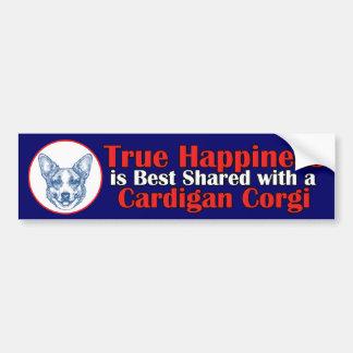 True Happiness with a Cardigan Corgi Bumper Sticker