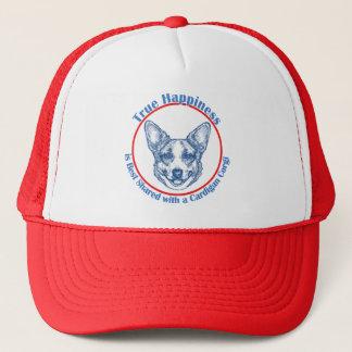 True Happiness with a Cardigan Corgi Trucker Hat