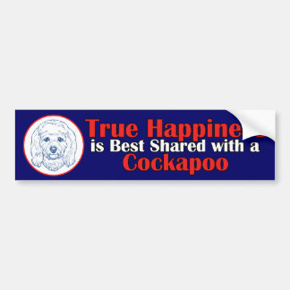 True Happiness with a Cockapoo Car Bumper Sticker