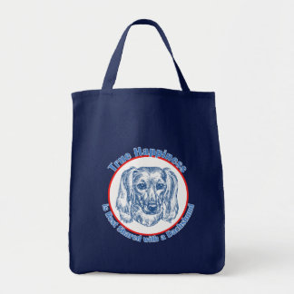 True Happiness with a Dachshund (Longhair) Tote Bag