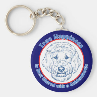 True Happiness with a Goldendoodle Keychain