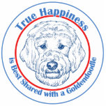 True Happiness with a Goldendoodle Photo Cutouts