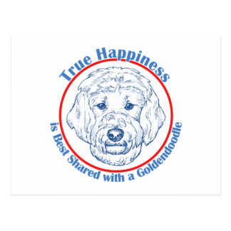 True Happiness with a Goldendoodle Postcards
