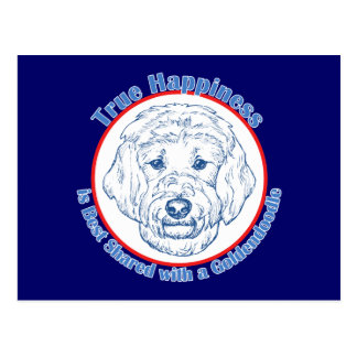 True Happiness with a Goldendoodle Postcard