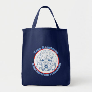 True Happiness with a Labradoodle Canvas Bags