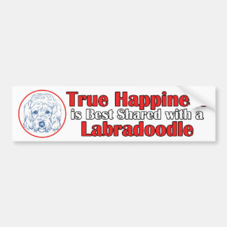 True Happiness with a Labradoodle Bumper Sticker