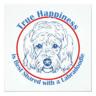 True Happiness with a Labradoodle Personalized Invitation