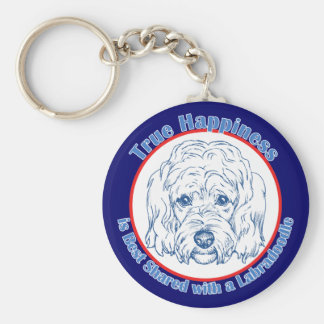 True Happiness with a Labradoodle Keychain