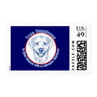 True Happiness with a Labrador Retriever Stamps