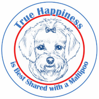 True Happiness with a Maltipoo Photo Sculpture