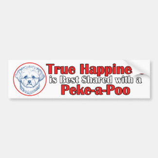 True Happiness with a Peke-a-Poo Bumper Sticker