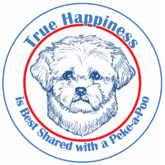 True Happiness with a Peke-a-Poo Cutout