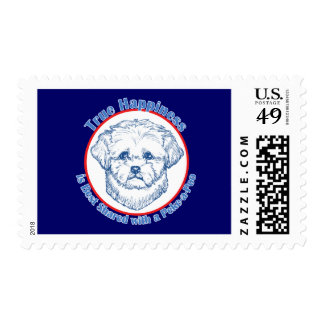True Happiness with a Peke-a-Poo Stamp