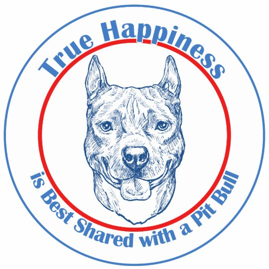 True Happiness with a Pit Bull Statuette