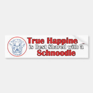 True Happiness with a Schnoodle Bumper Sticker