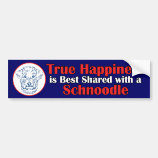 True Happiness with a Schnoodle Car Bumper Sticker