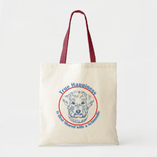 True Happiness with a Schnoodle Tote Bag