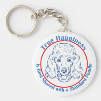 True Happiness with a Standard Poodle Keychain