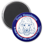 True Happiness with a Standard Poodle Refrigerator Magnet