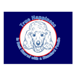 True Happiness with a Standard Poodle Postcard