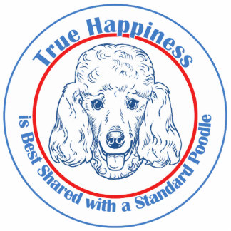 True Happiness with a Standard Poodle Statuette