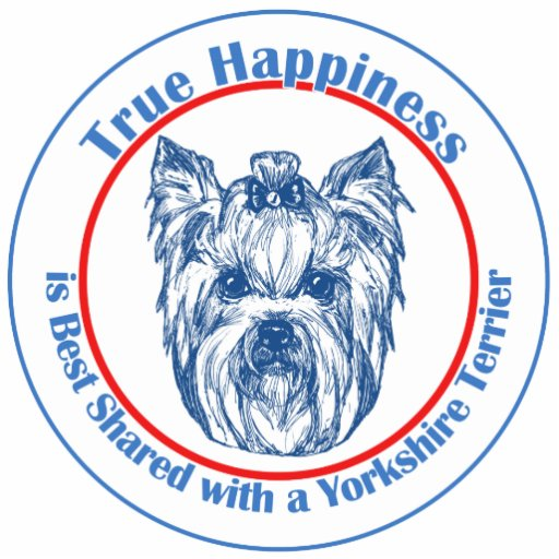 True Happiness with a Yorkshire Terrier Photo Sculpture