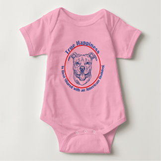 True Happiness with an American Bulldog Baby Bodysuit