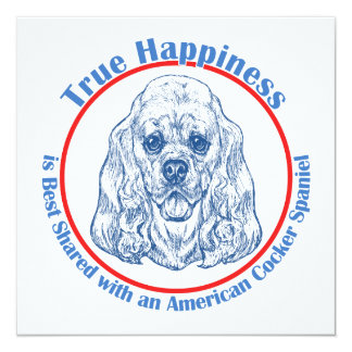 True Happiness with an American Cocker Spaniel Card