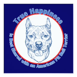 True Happiness with an American Pit Bull Terrier Card