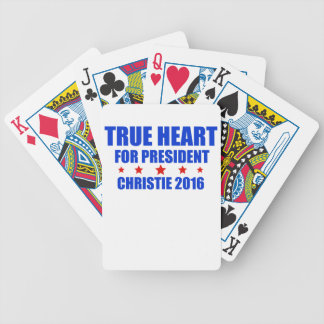 True Heart for President Chris Christie 2016 Bicycle Playing Cards