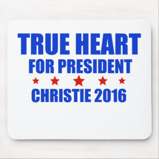 True Heart for President Chris Christie 2016 Mouse Pad
