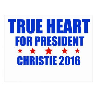 True Heart for President Chris Christie 2016 Postcard