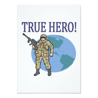 True Hero 5x7 Paper Invitation Card