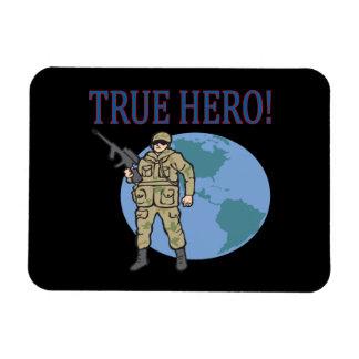 True Hero Rectangular Photo Magnet