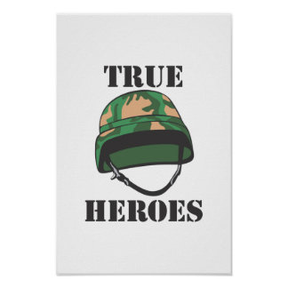 True Heroes Army Poster Print