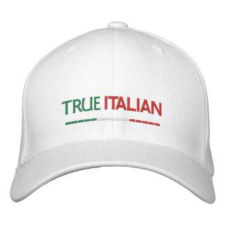 True Italian-Italian Flag Embroidered Baseball Cap