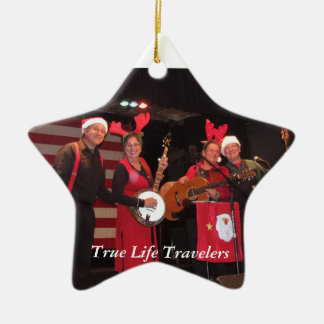 True Life Travelers 2010 Double-Sided Star Ceramic Christmas Ornament