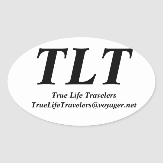 True Life Travelers Oval Sticker