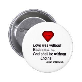 True Love 2 Inch Round Button