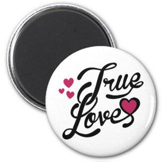 true love 2 inch round magnet