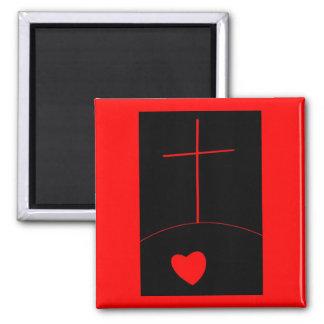 True Love 2 Inch Square Magnet