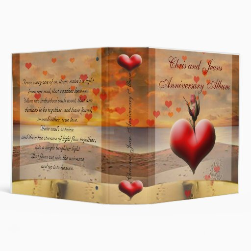 True Love Anniversary Album 3 Ring Binder