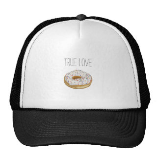 True Love Artsy Cutout Iced Ring Doughnut Trucker Hat
