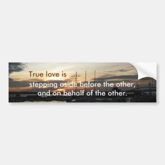 True love bumper stickers