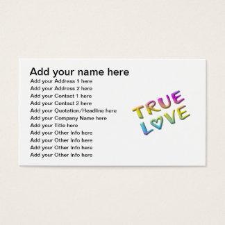 True Love Business Card